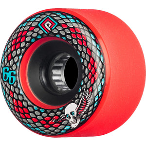 POWELL PERALTA - SNAKES WHEELS - 66MM 75A - RED