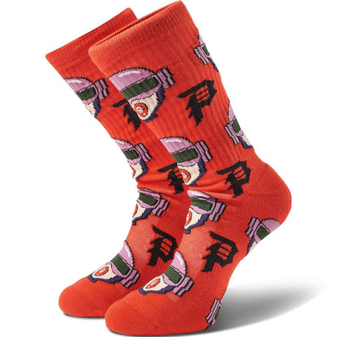 PRIMITIVE - RICK AND MORTY GWEN ALLOVER SOCKS - RED - OSFA