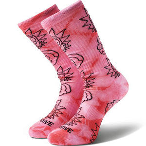 PRIMITIVE - RICK & MORTY CREW SOCKS - OSFA - PINK