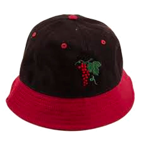 PASSPORT LIFE OF LEISURE 6 BUCKET HAT BURGUNDY/BLACK