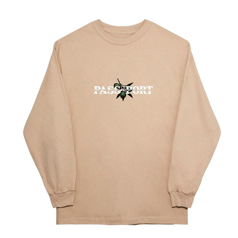 PASSPORT OLIVE PUFF LONG SLEEVE TEE SAND