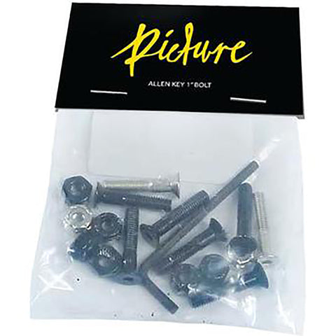 "PICTURE WHEEL CO 1"" ALLEN KEY BOLTS"