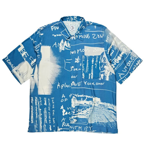 POLAR ART BUTTON SHIRT - BLUE