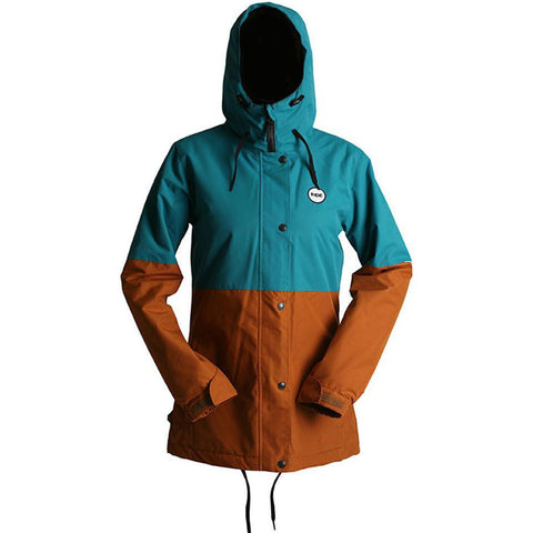 RIDE - Brighton Womens Jacket - Teal/Caramel
