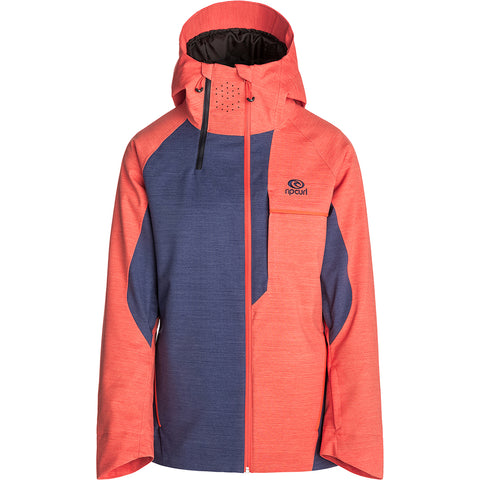 RIP CURL - PRO GUM WOMENS JACKET - HOT CORAL