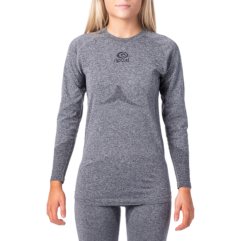 RIP CURL - WOMENS GUM BASE LAYER TOP 2020 - JET BLACK