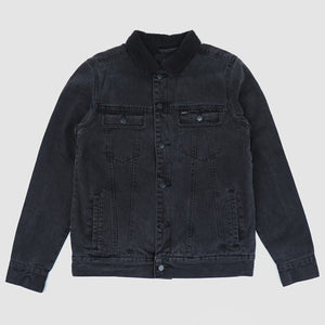 RVCA DAGGERS DENIM SHERPA VINTAGE JACKET BLACK