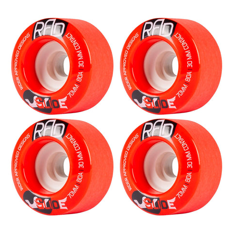 RAD GLIDE CROWN CORE LONGBOARD WHEELS RED 70MM 80A