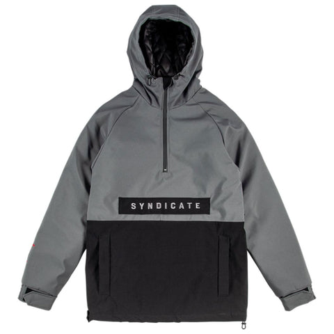 ROME FIELD ANORAK JACKET BLACK/GREY