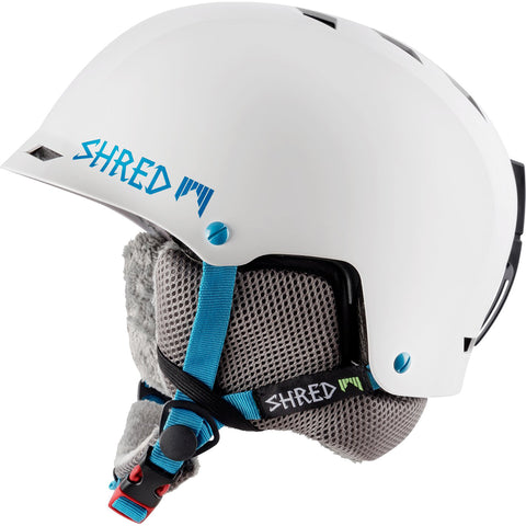 SHRED - HALF BRAIN HELMET - FLURRY - WHITE/BL