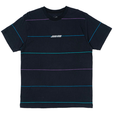SANTA CRUZ STRIP STRIPE TEE - BLACK