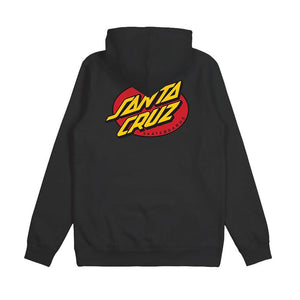 SANTA CRUZ OVAL DOT POP HOODIE - BLACK