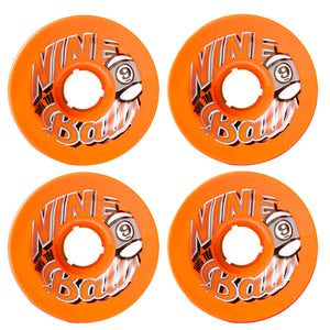 SECTOR 9 TOP SHELF 9-BALL LONGBOARD WHEELS ORANGE 74MM 78A