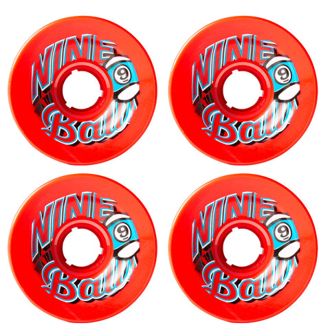 SECTOR 9 TOP SHELF 9-BALL LONGBOARD WHEELS RED 74MM 78A