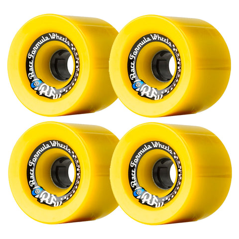 SECTOR 9 RACE FORMULA LONGBOARD WHEELS YELLOW 74MM 78A