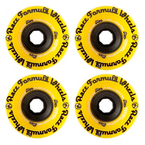 SECTOR 9 RACE FORMULA LONGBOARD WHEELS YELLOW 71MM 78A