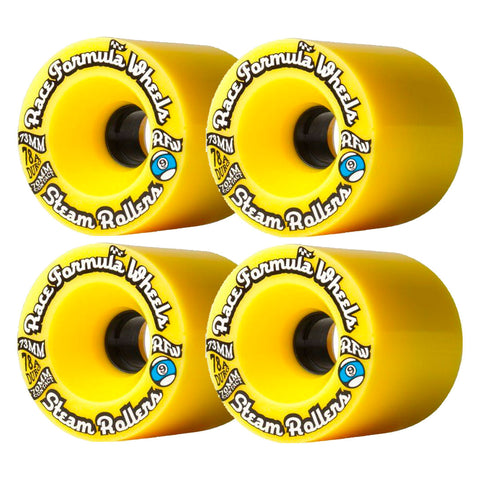 SECTOR 9 RACE FORMULA LONGBOARD WHEELS YELLOW 73MM 78A