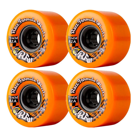 SECTOR 9 RACE FORMULA CENTRE SET LONGBOARD WHEELS ORANGE 70MM 82A