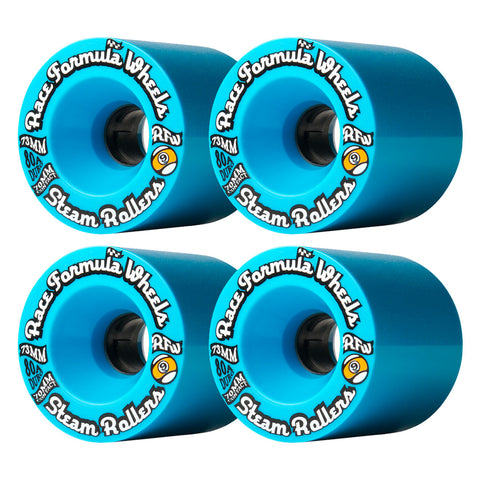SECTOR 9 STEAM ROLLER LONGBOARD WHEELS BLUE 73MM 80A