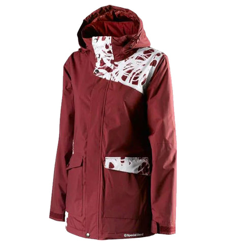 SPECIAL BLEND JOY WOMENS JACKET MERLOT