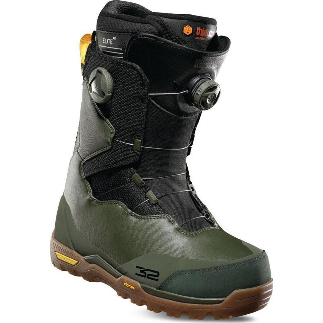 THIRTYTWO - FOCUS BOA 2019 - MENS SNOWBOARD BOOT - OLIVE/BLACK/GUM