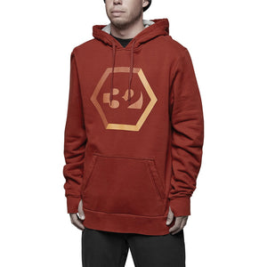THIRTYTWO - MARQUEE PULL OVER HOODIE 2018 - OXBLOOD