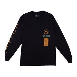 WELCOME TONIGHT I'M YOURS LONG SLEEVE TEE BLACK