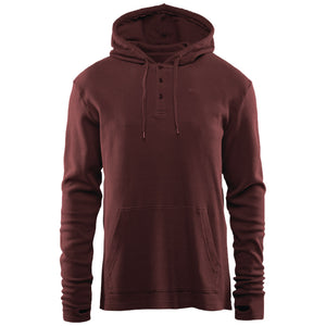 THIRTYTWO DIXON THERMAL HOODED TOP - BURGUNDY