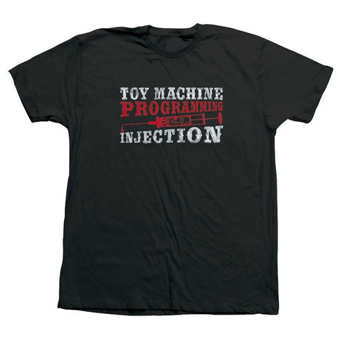 TOY MACHINE PROGRAMMING INJECTION TEE - BLACK