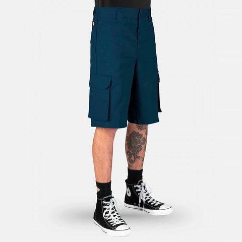 DICKIES - 131 SLIM STRAIGHT CARGO SHORTS - NAVY