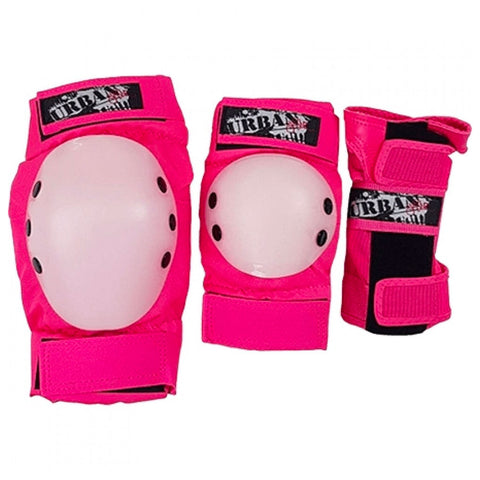 URBAN SK8ER PROTECTIVE GEAR TRI PACK PINK