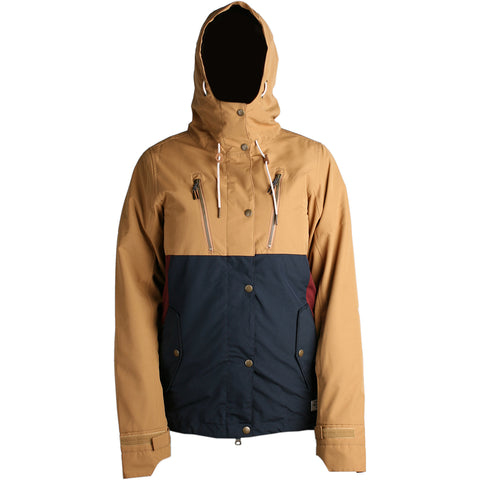 RIDE - WALLINGFORD 2019 - WOMENS JACKET - CAMEL / BURGUNDY / NAVY