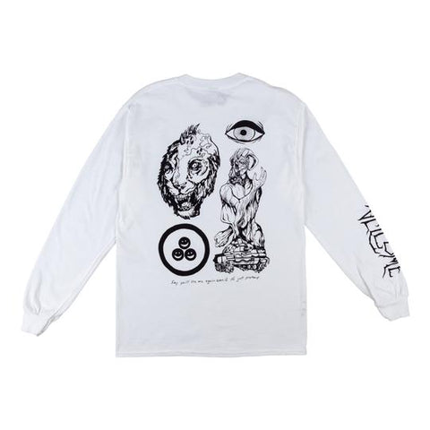 WELCOME GOATMAN LONG SLEEVE TEE WHITE