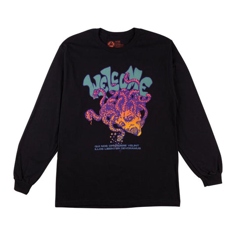 WELCOME MEDUSA PREMIUM LONG SLEEVE TEE BLACK