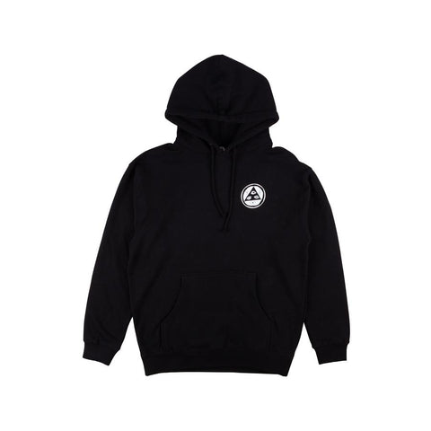 WELCOME SLOTH PULLOVER HOODIE BLACK/WHITE