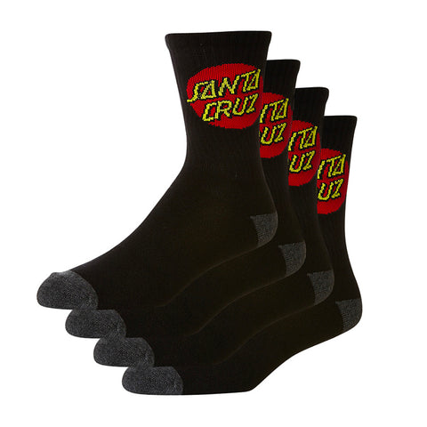 SANTA CRUZ YOUTH SOCKS 4PK BLACK