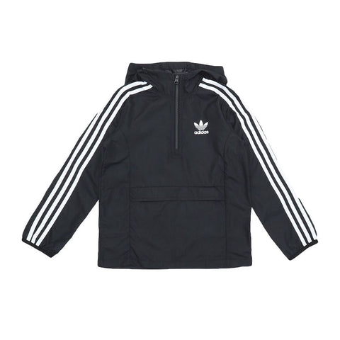 ADIDAS PACKABLE WINDBREAKER JACKET YOUTH - BLACK