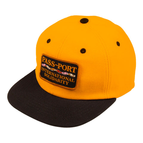 PASSPORT INTERSOLID PATCH 5 PANEL CAP - GOLD/BLACK