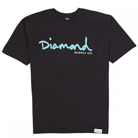 DIAMOND SUPPLY CO OG SCRIPT TEE - BLACK