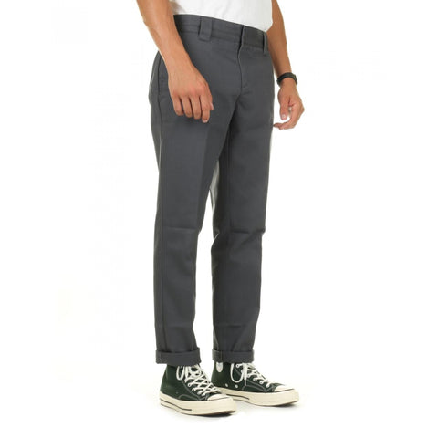 DICKIES - 872 SLIM TAPERED FIT PANTS - CHARCOAL