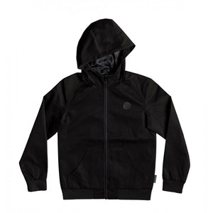 DC ELLIS WATER RESISTANT HOODED YOUTH JACKET - BLACK
