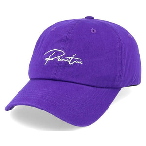 PRIMITIVE GINZA SCRIPT ADJUSTABLE CAP - PURPLE