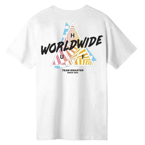 HUF RADICAL TRIPLE TRIANGLE TEE WHITE
