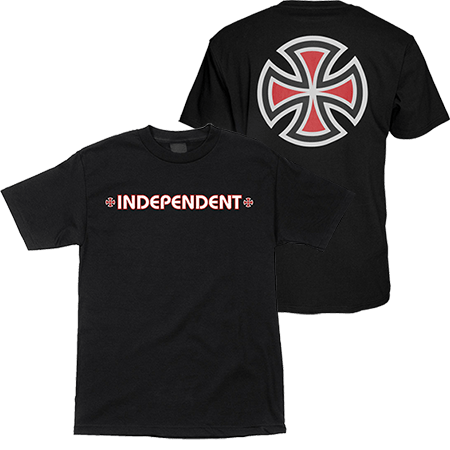 INDEPENDENT BAR/CROSS YOUTH TEE - BLACK/RED