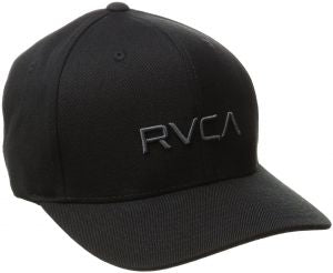RVCA FLEX FIT CAP - BLACK