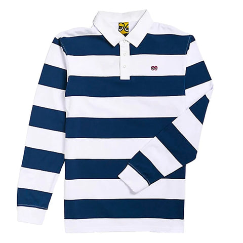 KROOKED RUGBY EYES L/S - NAVY/WHITE