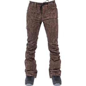 L1 - HEARTBREAKER - WOMENS SNOWBOARD PANTS - BROWN ACID