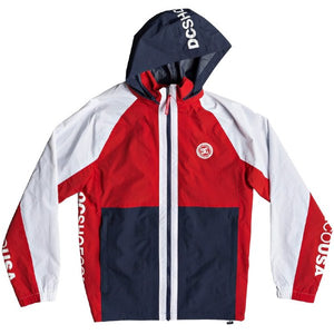 DC - RAI TRACK JACKET - RED/NAVY/WHITE