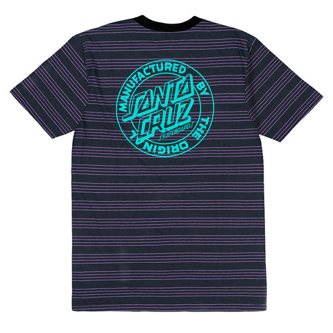 SANTA CRUZ -MFG- DOT STRIPE TEE - BLACK