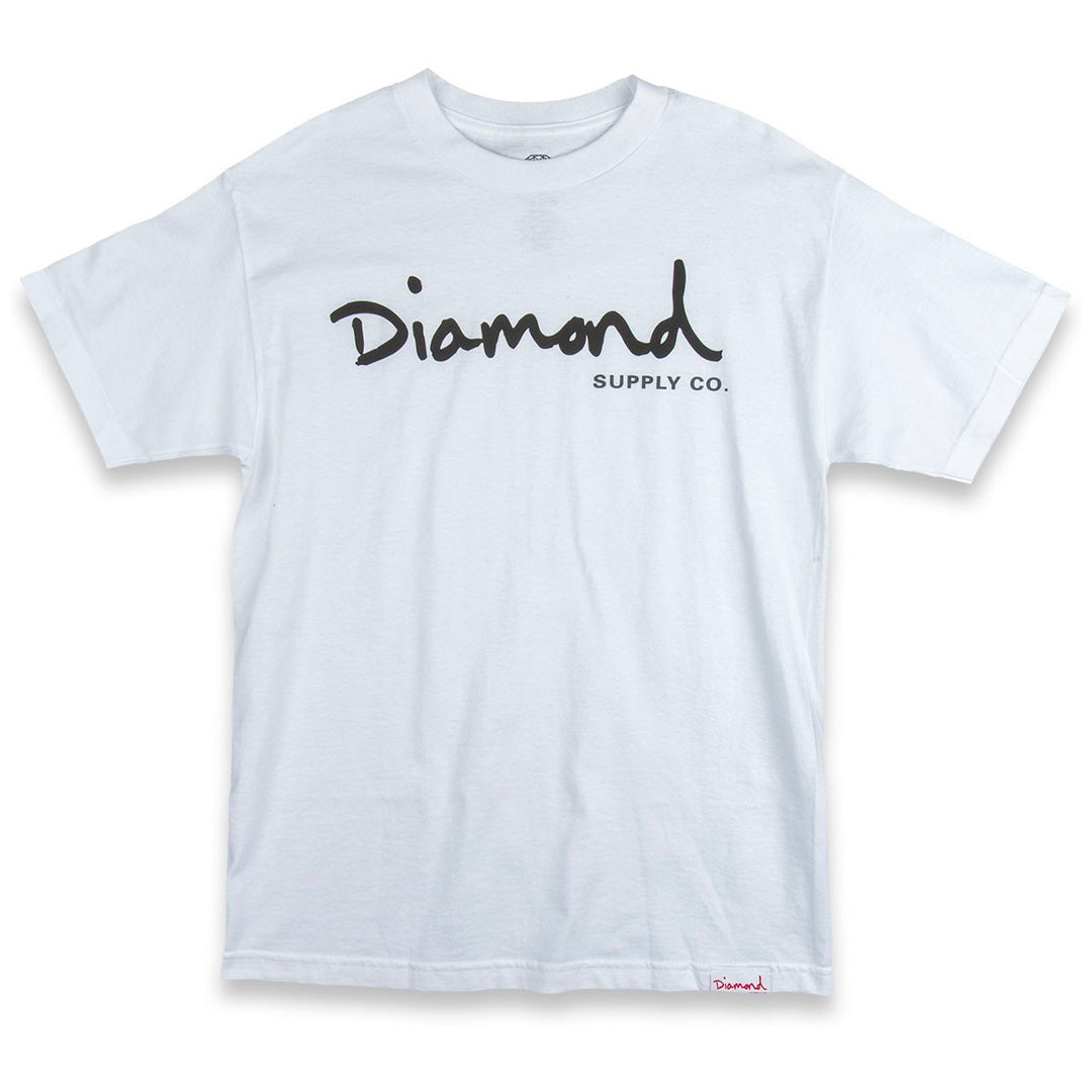 DIAMOND SUPPLY CO OG SCRIPT TEE WHITE